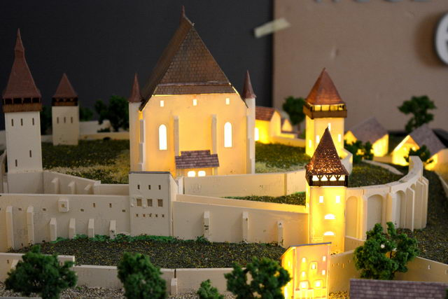 Biertan fortified church model