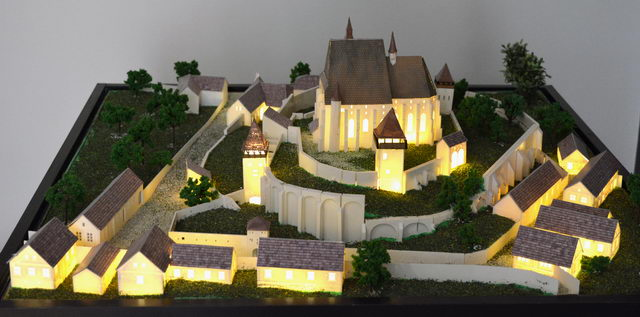 Biertan fortified church scale model