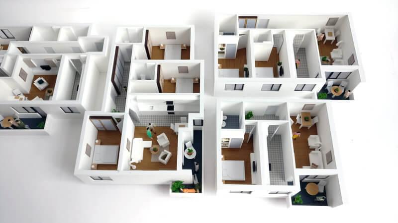 Detailed interior apartment Model