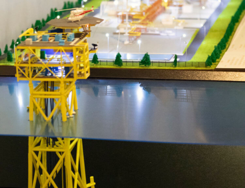 Gas platform model