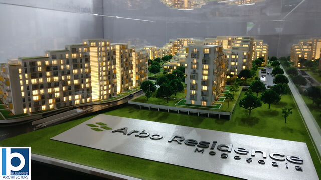 Large housing scale model