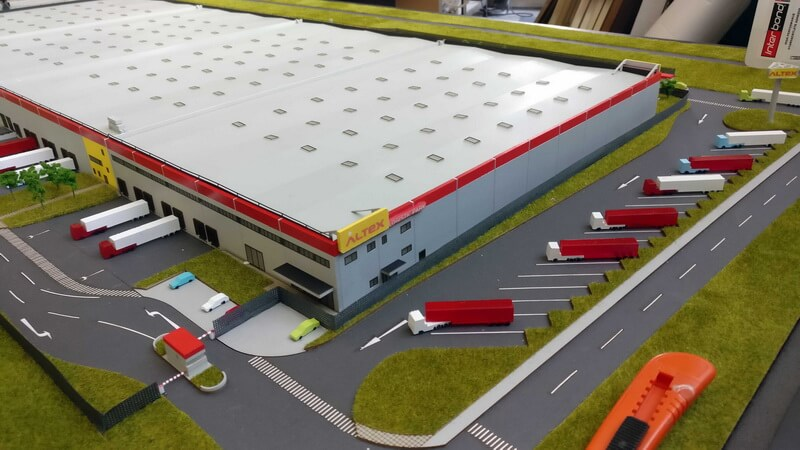 Logistic Park Scale model