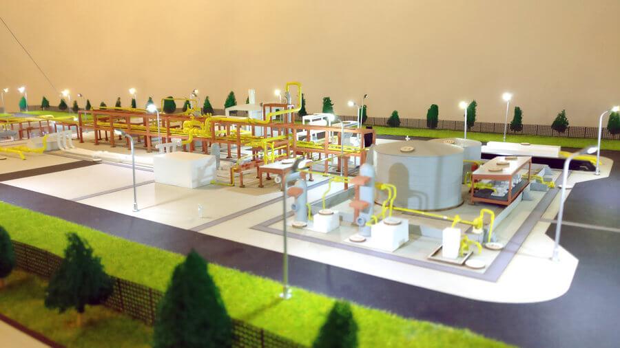 Scale model gas platform