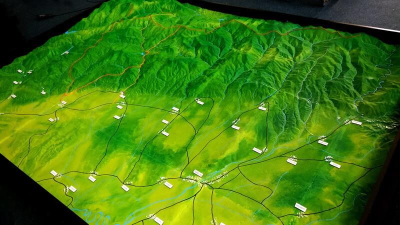 Topographic model Mountain area