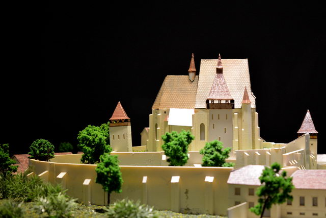 church scale model