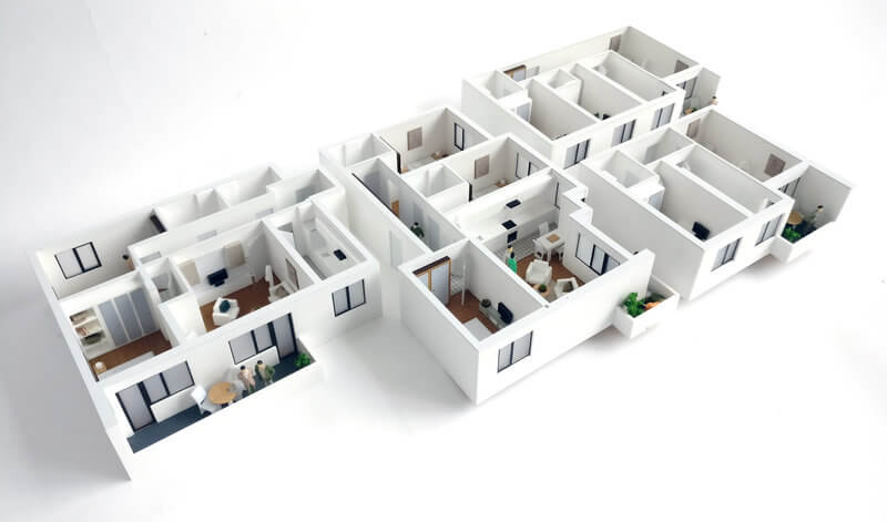 detail model apartments