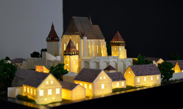 fortified church model
