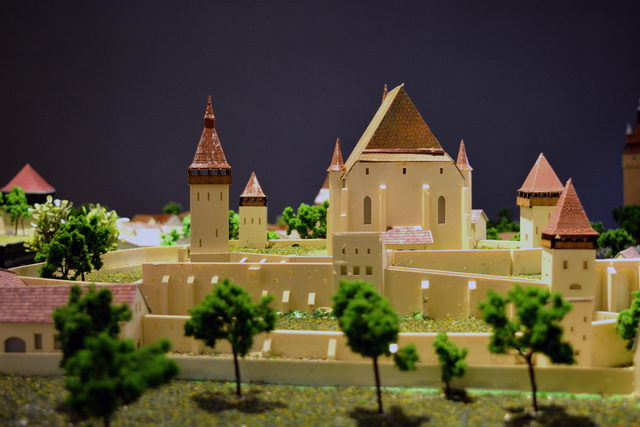 fortified church scale model