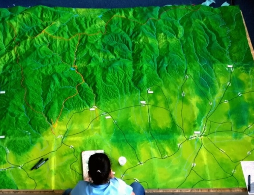 Topographic model of a Mountain area