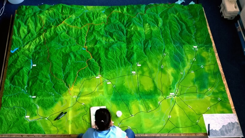 large topographical model