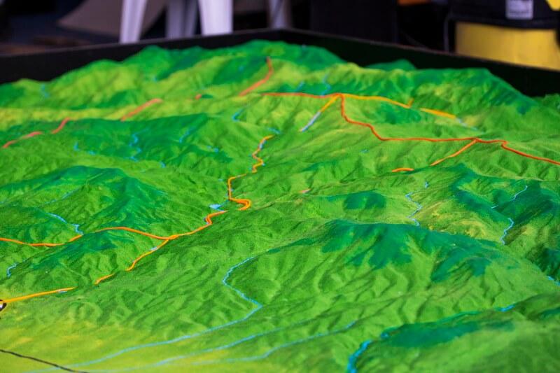 mountain area Topographic model