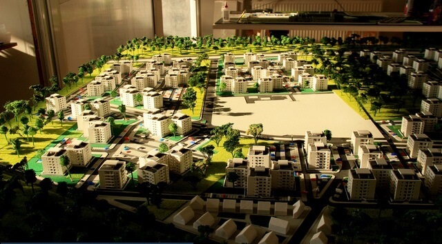 residential district scale model