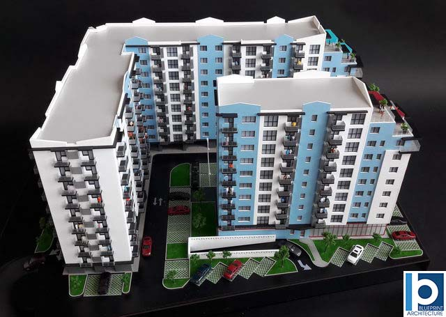 Apartment Development Scale Model