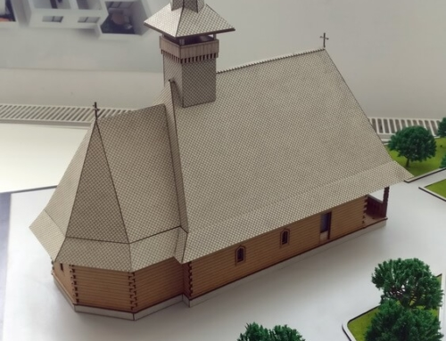 Wooden church model