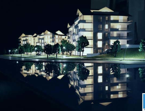 Holiday Resort Site Model – Swiss Lake