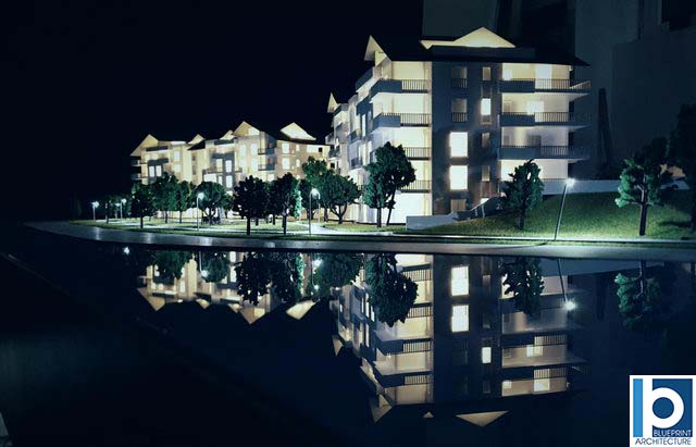 Holiday Resort Site Model - Swiss Lake