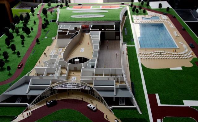 Sport center scale model