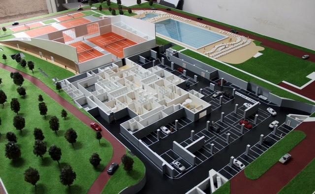 Sports Complex architectural model