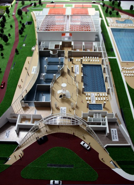 Sports Complex scale model