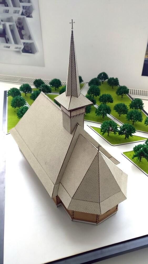 Wooden Church Scale Model