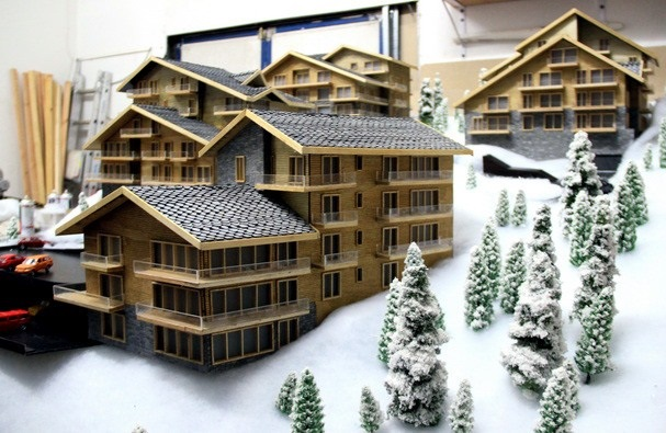 Wooden house scale model
