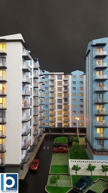 apartment blocks Model