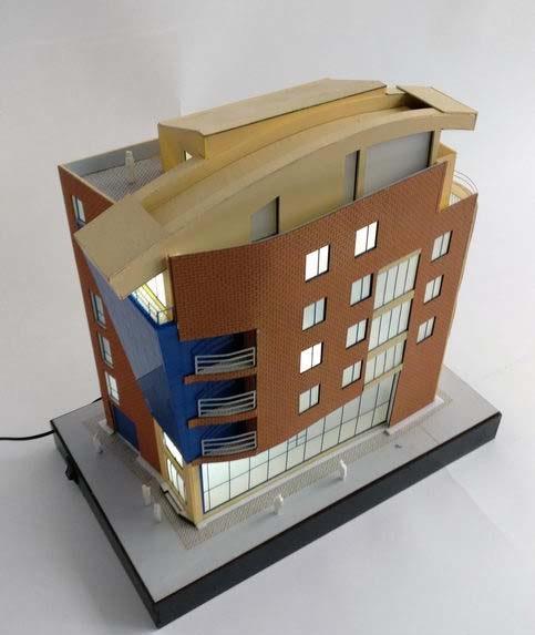 6-floor building model