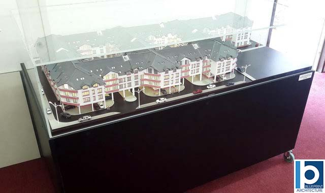 Apartment Buildings Scale Model