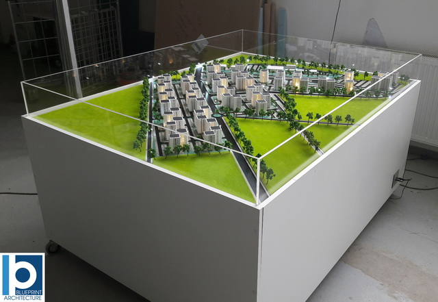 Apartment Development Scale Model