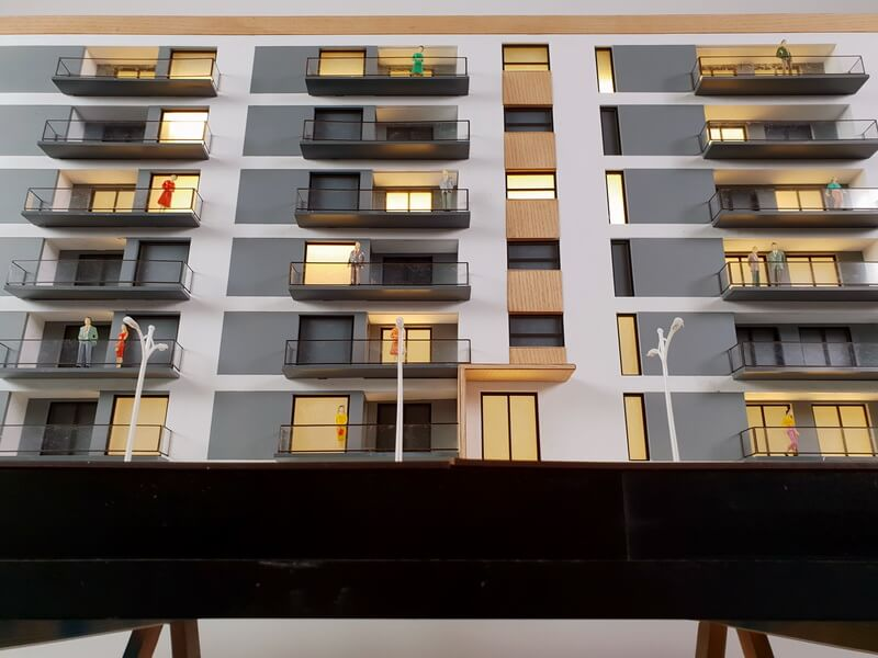 Modern Apartment Block Model