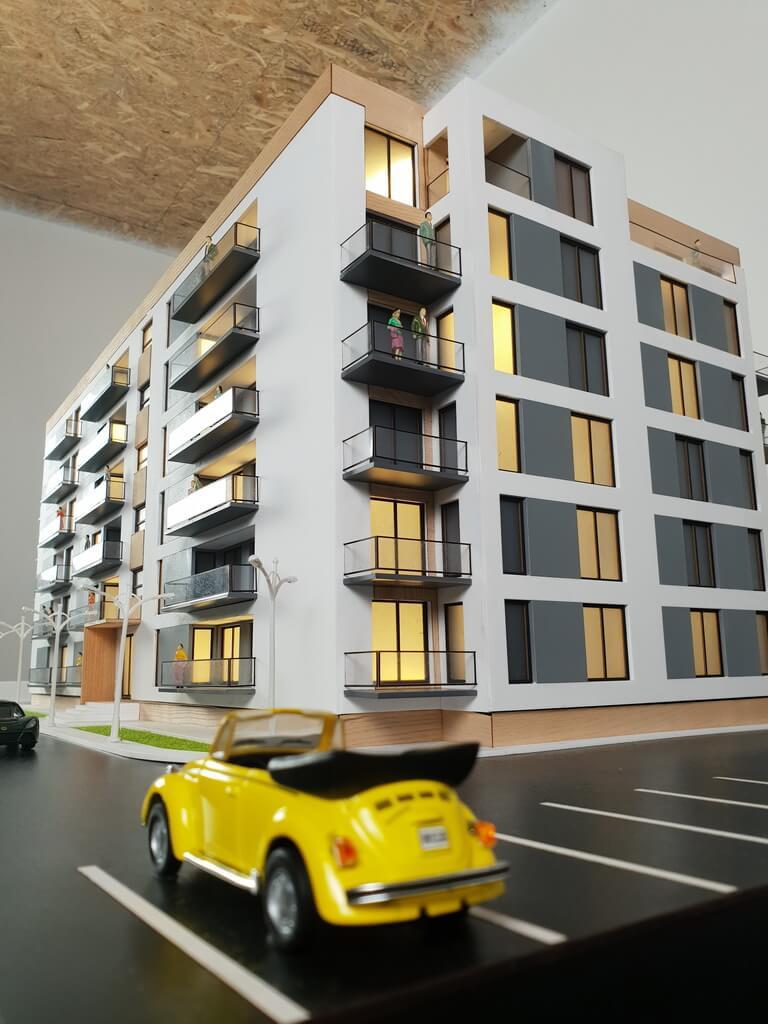 apartment block model