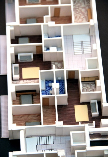 floor plan model Scale model