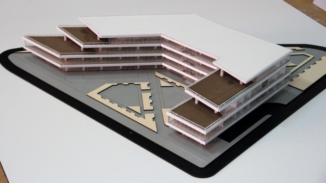 Detachable office building model