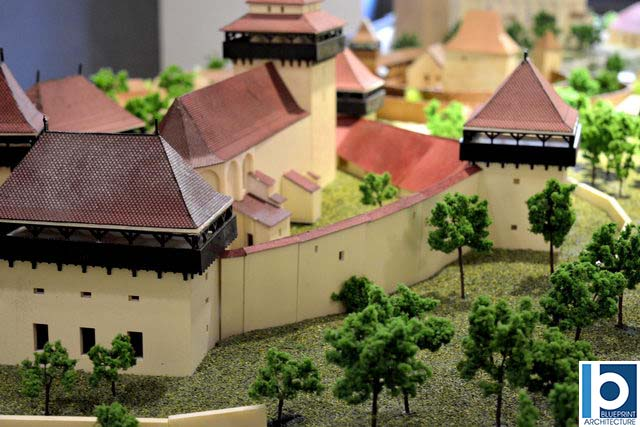 scale model of the Church