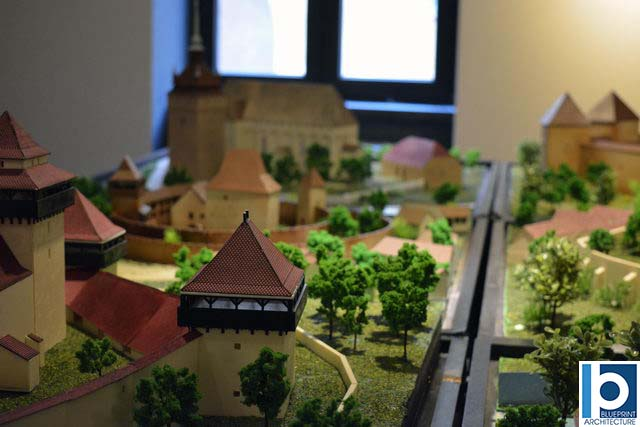 scale model of the fortified Church