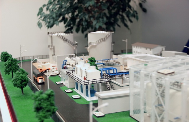 wastewater treatment scale model