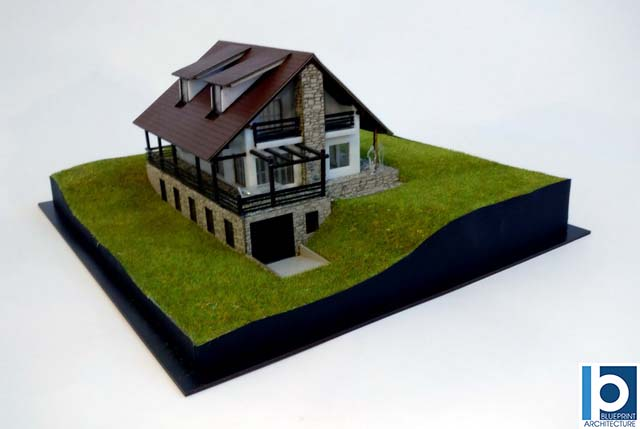 1:70 scale model house