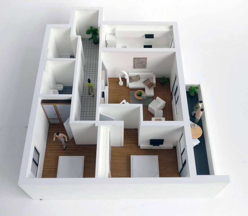 Detailed Floor Plan Model