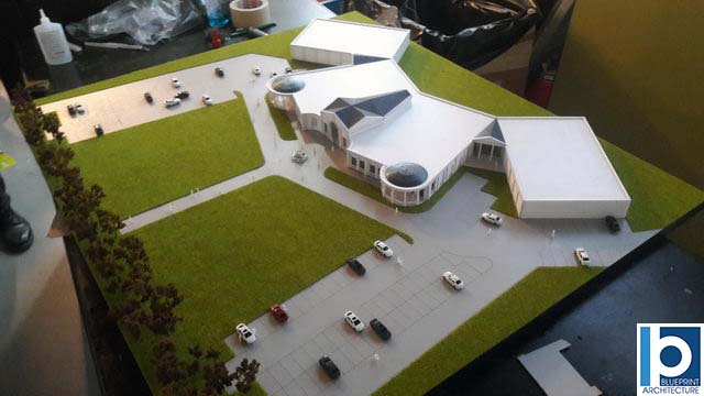 Events Hall scale model