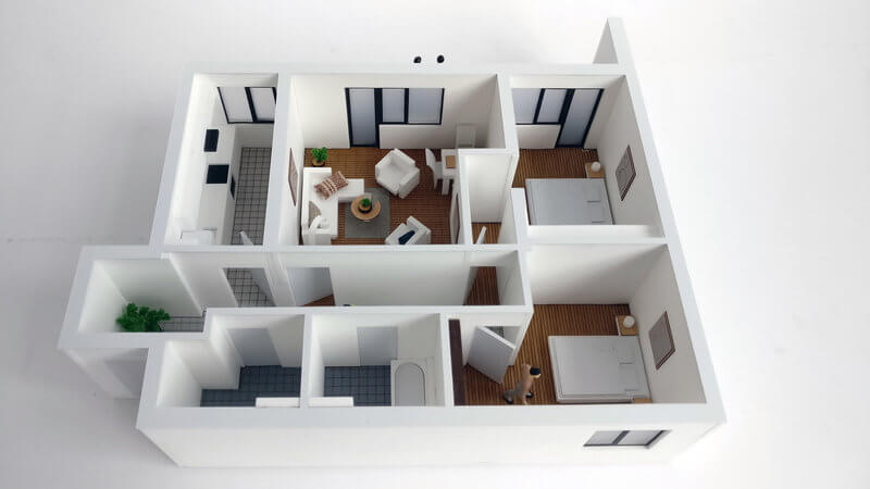 Floor Plan Model Apartment