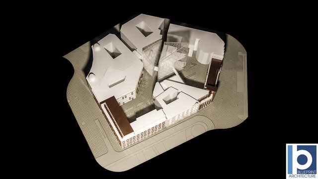 Office Building Scale Model