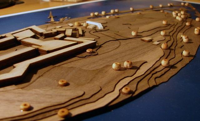 Simian Island scale model