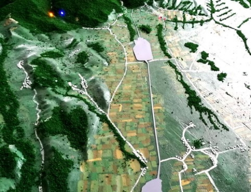 Topographic model – Hunting area