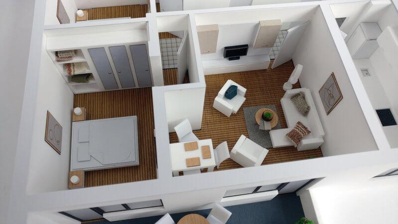 Three Bedroom apatment model
