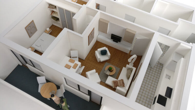 Three Bedroom apatment scale model