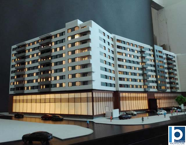 Apartment Building scale model