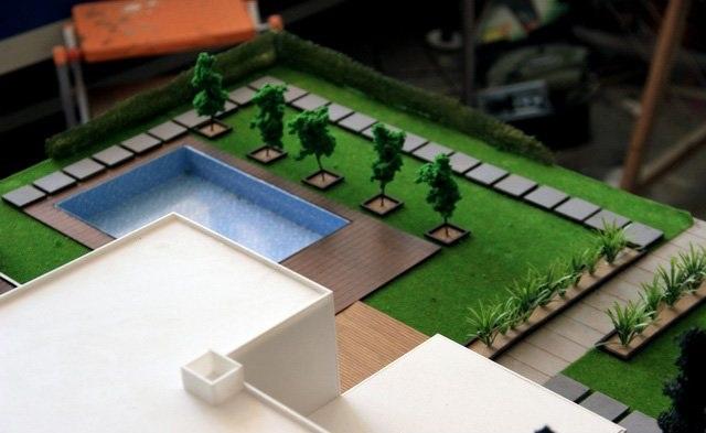 Garden Villa Scale Model