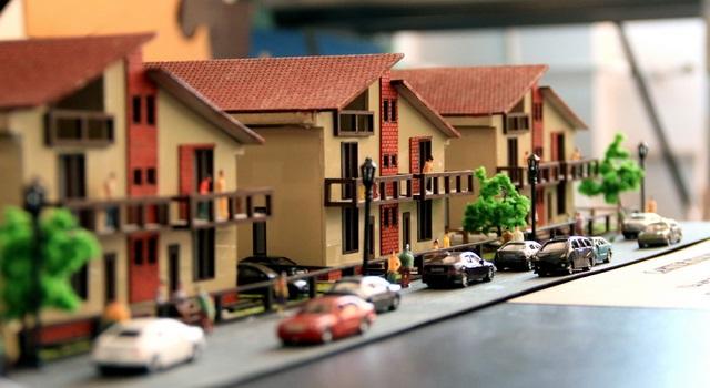 Housing development scale model