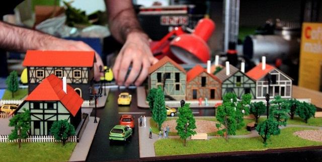 diorama of a village