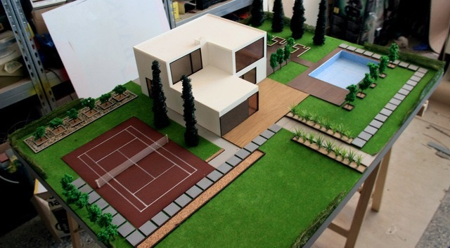 home and exterior arrangement